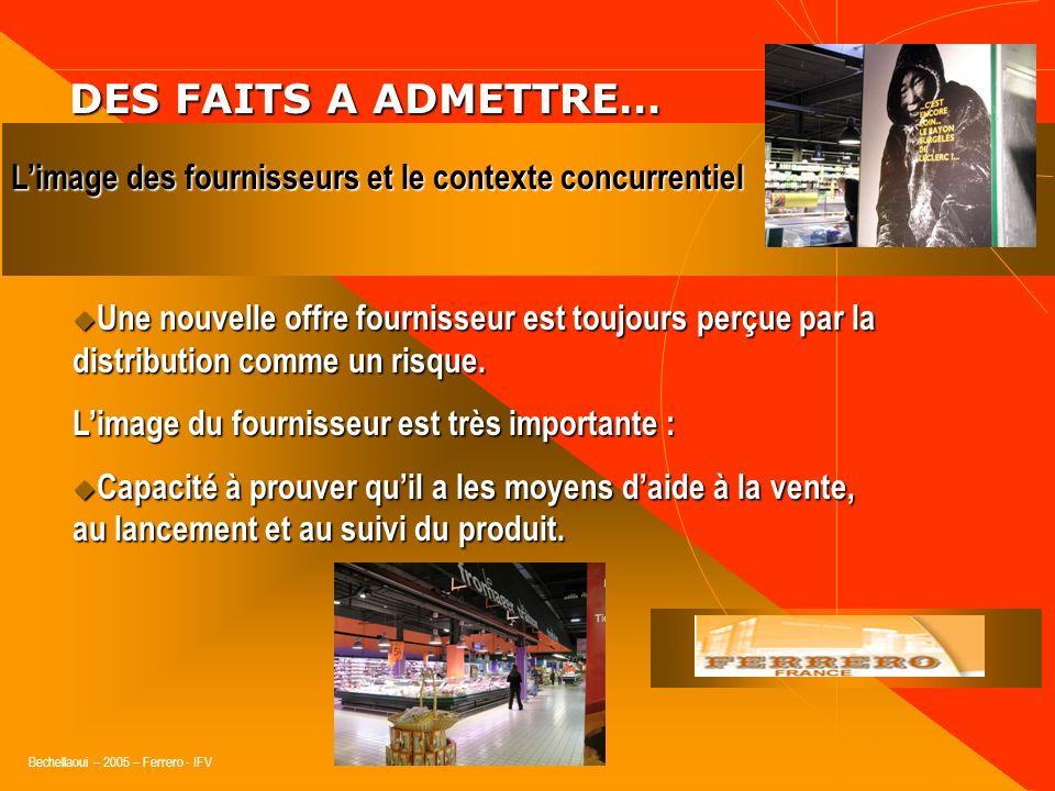 Bechellaoui – 2005 – Ferrero - IFV DES FAITS A ADMETTRE… DES FAITS A ADMETTRE… Les services : (présenter/négocier/mettre en place et suivre) Comment e