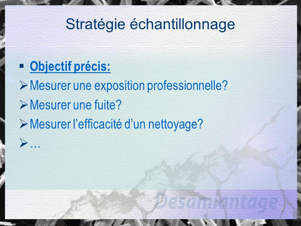 27 Stratégie échantillonnage Exemple