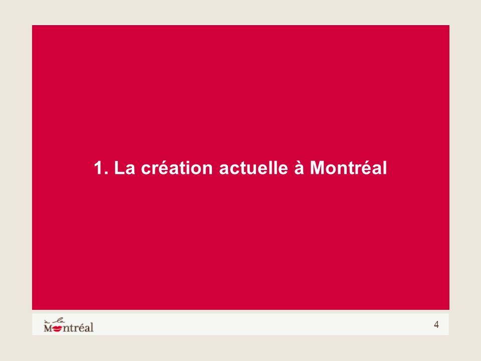 4 1. La création actuelle à Montréal