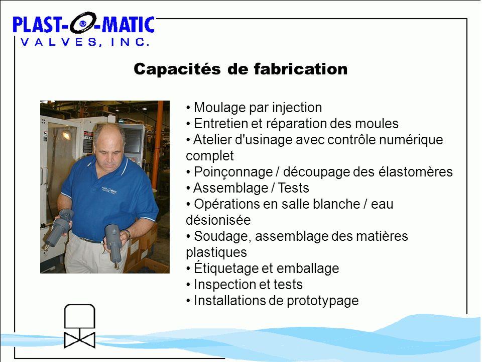 Capacités de fabrication Moulage par injection Entretien et réparation des moules Atelier d'usinage avec contrôle numérique complet Poinçonnage / déco