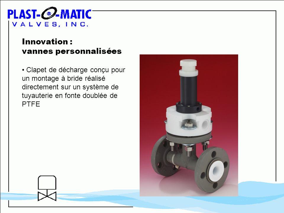 Innovation : vannes personnalisées Clapet de décharge conçu pour un montage à bride réalisé directement sur un système de tuyauterie en fonte doublée