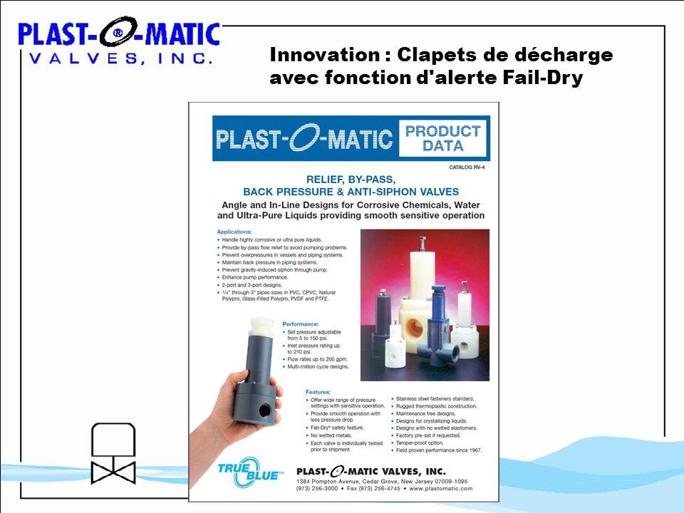 Innovation : Clapets de décharge avec fonction d'alerte Fail-Dry