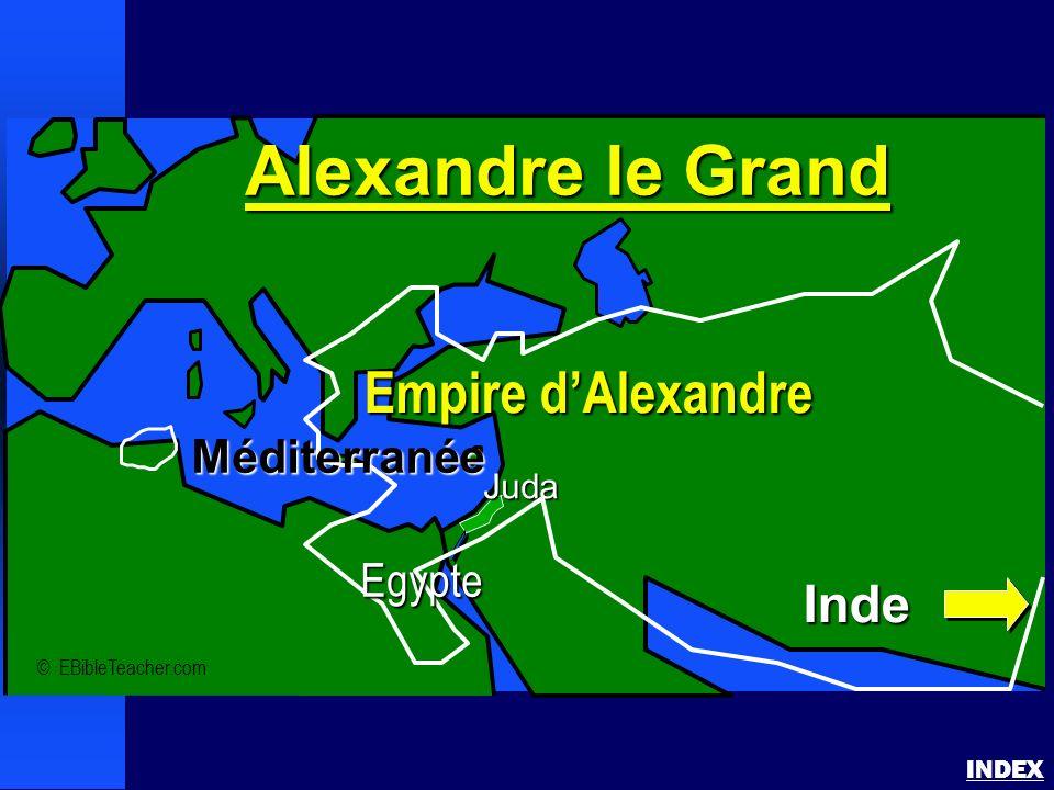 Alexandre le Grand INDEX © EBibleTeacher.com Juda Alexandre le Grand Empire dAlexandre Inde Méditerranée Egypte
