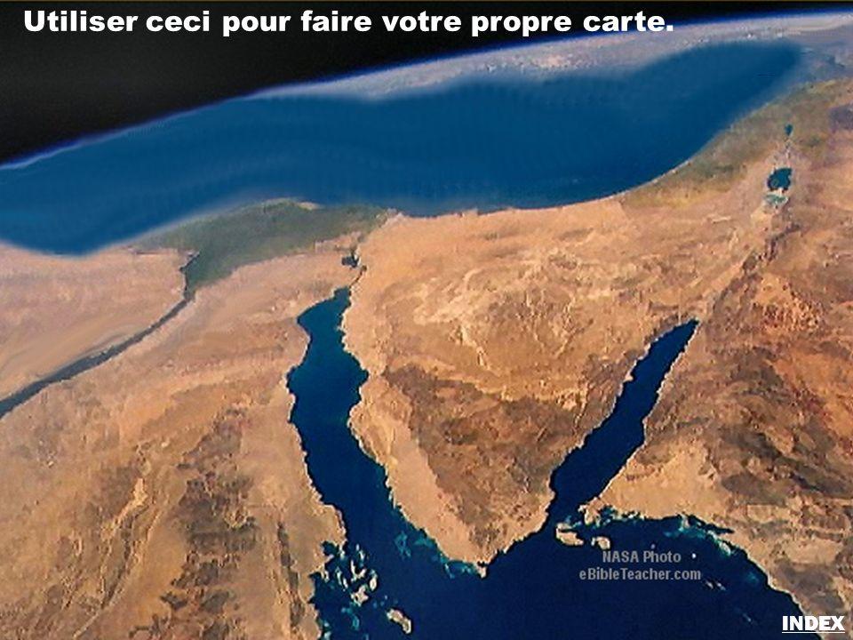 Utiliser ceci pour faire votre propre carte. Sinaï/Egypte carte vierge INDEX