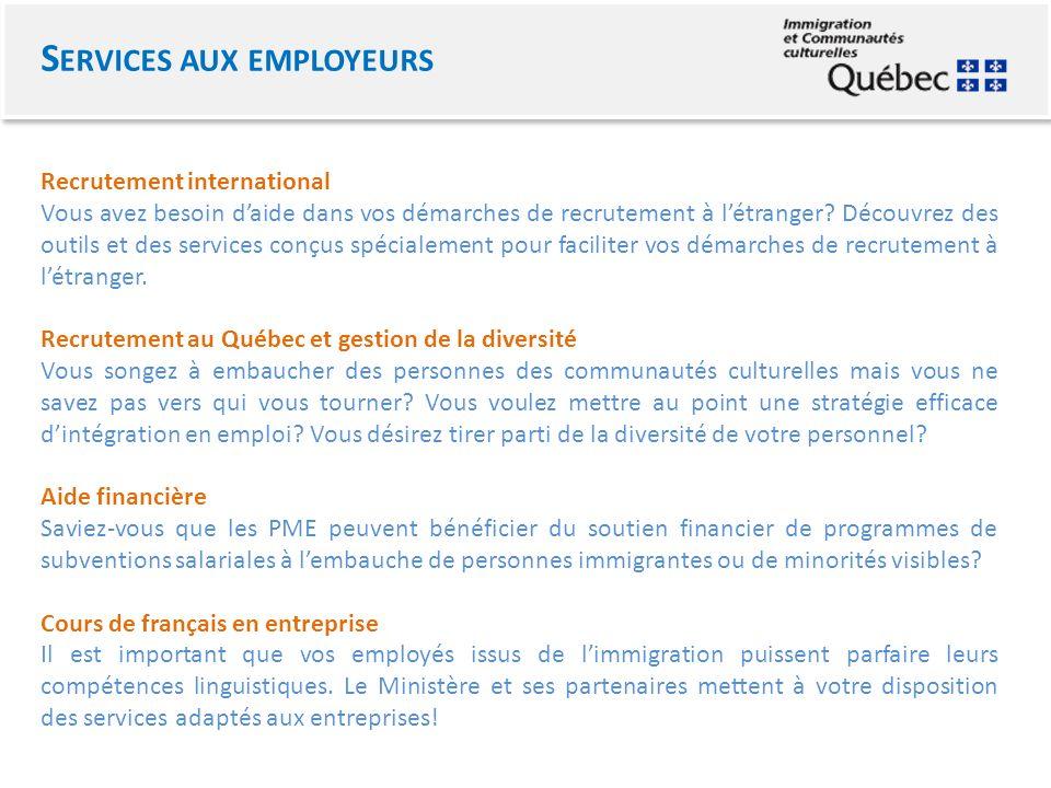 Recrutement international Vous avez besoin daide dans vos démarches de recrutement à létranger.