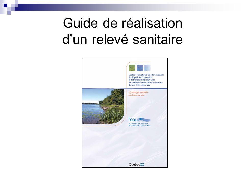 Guide de réalisation dun relevé sanitaire