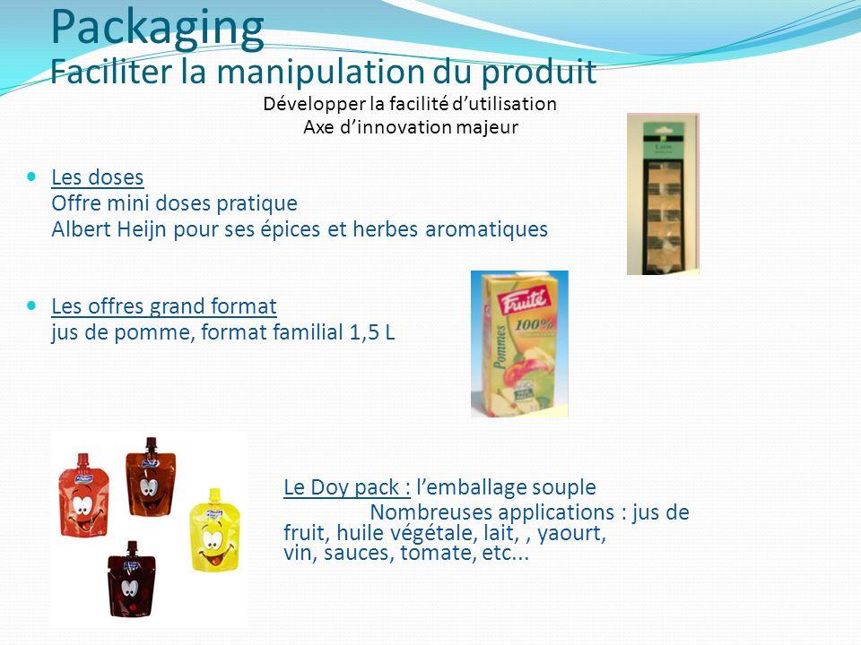 Développer la facilité dutilisation Axe dinnovation majeur Les doses Offre mini doses pratique Albert Heijn pour ses épices et herbes aromatiques Les