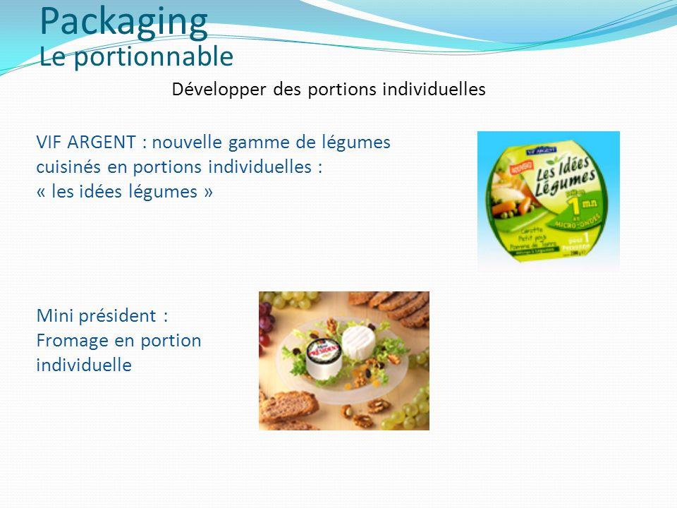 Développer des portions individuelles VIF ARGENT : nouvelle gamme de légumes cuisinés en portions individuelles : « les idées légumes » Mini président