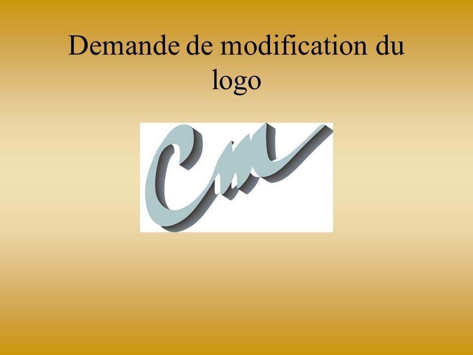 Demande de modification du logo