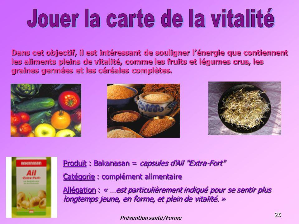 26 Dans cet objectif, il est intéressant de souligner lénergie que contiennent les aliments pleins de vitalité, comme les fruits et légumes crus, les