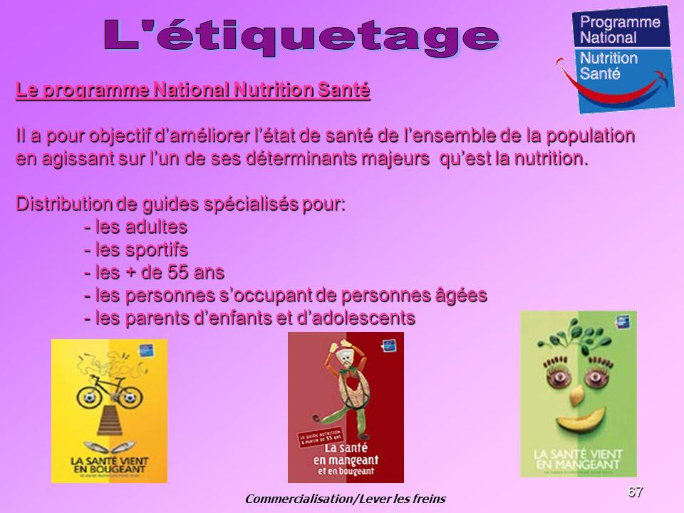 67 Le programme National Nutrition Santé Il a pour objectif daméliorer létat de santé de lensemble de la population en agissant sur lun de ses détermi