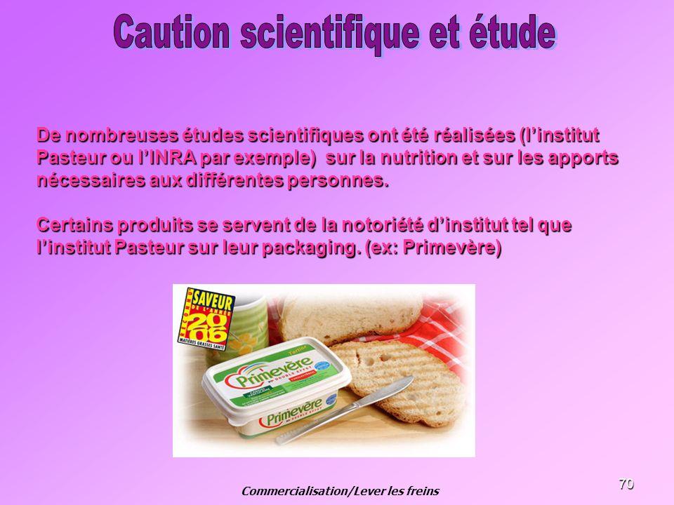 70 De nombreuses études scientifiques ont été réalisées (linstitut Pasteur ou lINRA par exemple) sur la nutrition et sur les apports nécessaires aux d