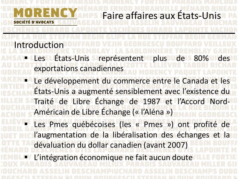 Formes dentreprise: la société étrangère – Rapatriement des fonds à la société canadienne – « Dividendes » constituent du « Fixed or determinable, annual or periodic » (FDAP) income – Retenue de 30% du dividende brut en vertu de lIRC – Retenue réduite par la Convention à 5% si la société canadienne possède 10% des droits de vote, sinon 15% dans les autres cas – Intérêt (taux réduit 7%, 4% et du 0%) de la Convention et Formulaire W-8BEN et EIN Faire affaires aux États-Unis
