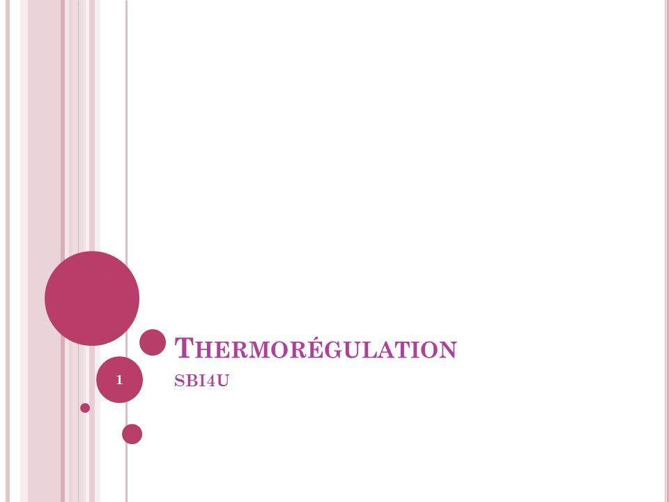 T HERMORÉGULATION SBI4U 1