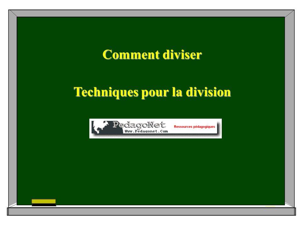 Comment diviser Techniques pour la division