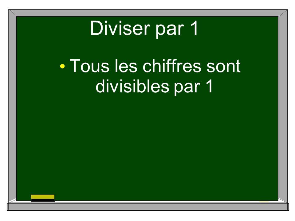 Diviser par 1 Tous les chiffres sont divisibles par 1