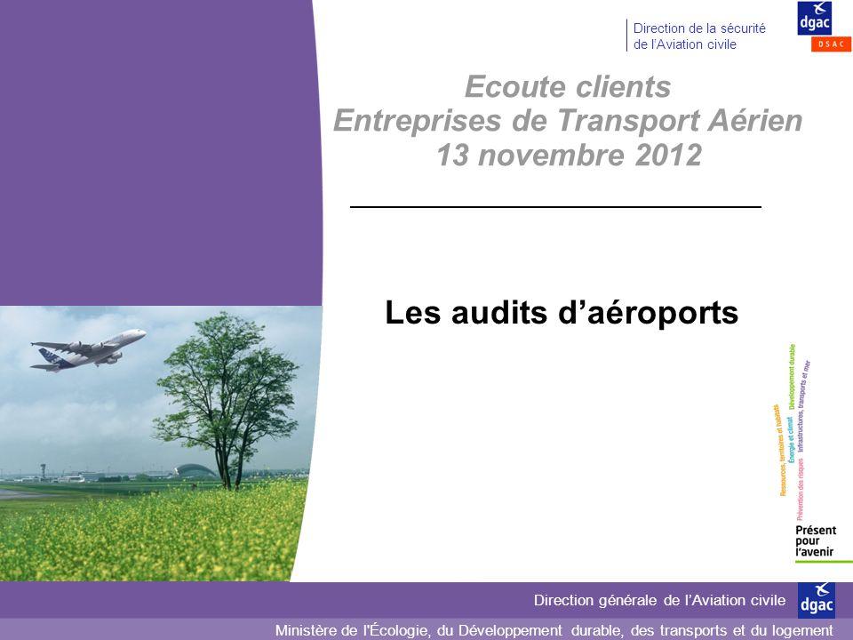 Ministère de l'Écologie, du Développement durable, des transports et du logement Direction générale de lAviation civile Direction de la sécurité de lA