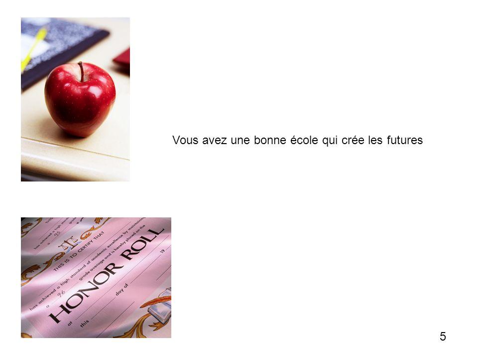 Vous avez une bonne école qui crée les futures 5