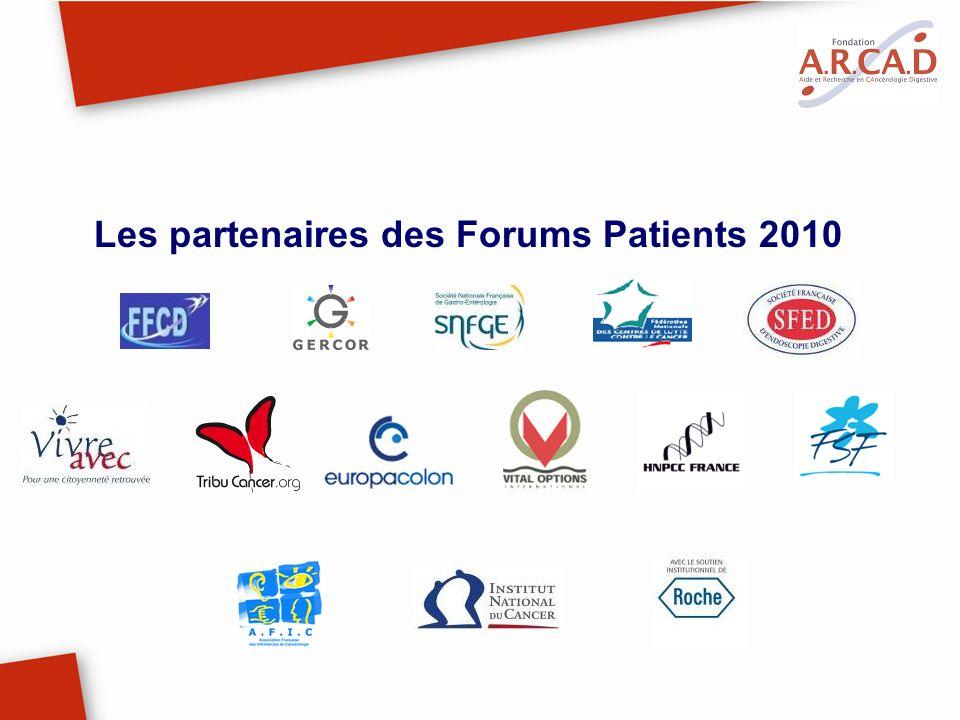Les partenaires des Forums Patients 2010