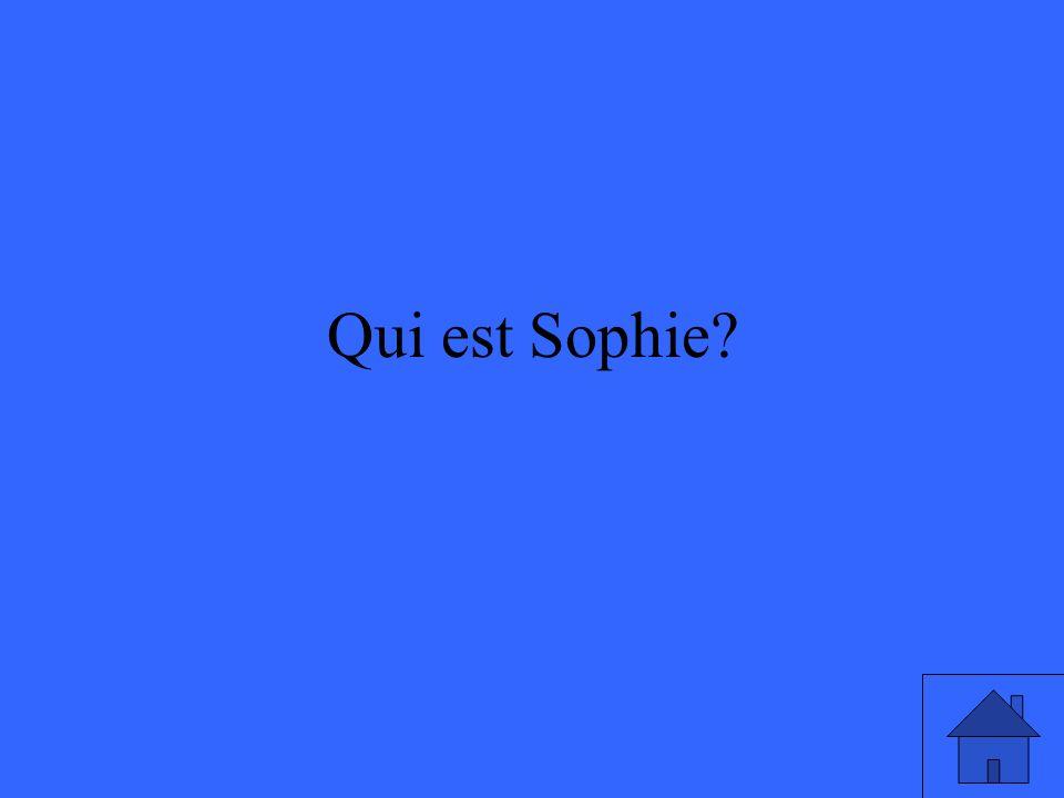 Qui est Sophie