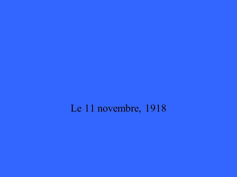 Le 11 novembre, 1918