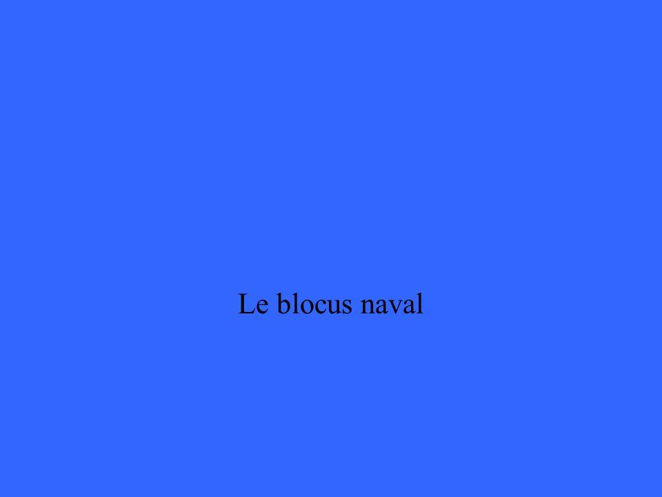 Le blocus naval