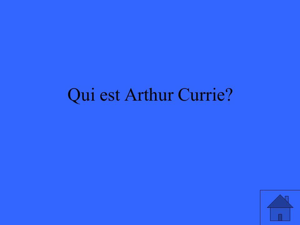 Qui est Arthur Currie