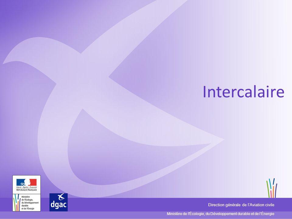 Ministère de l'Écologie, du Développement durable et de lÉnergie Direction générale de lAviation civile Intercalaire