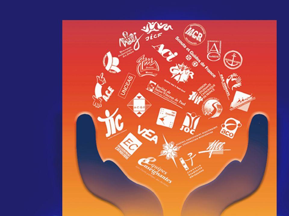 Composé de 28 Mouvements et Services dEglise : la COLLEGIALITE ACO CMR JOC SCOUTS MCC MCR ACMEC ACGF ACI JEC JIC JICF JM MECF MEJ MISSION MER MOUVEMEN