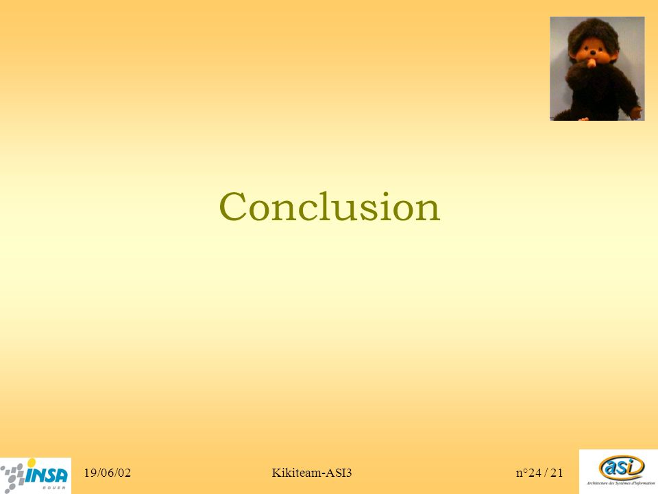 19/06/02Kikiteam-ASI3n°24 / 21 Conclusion