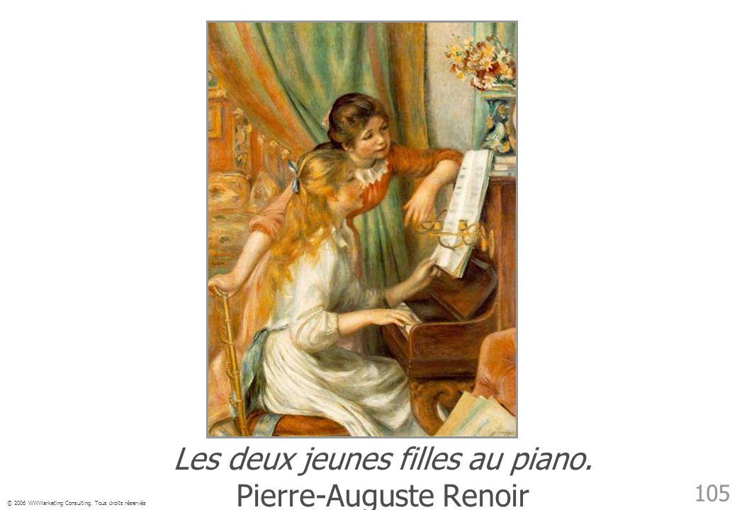 © 2006 WWWarketing Consulting. Tous droits réservés 105 Les deux jeunes filles au piano. Pierre-Auguste Renoir