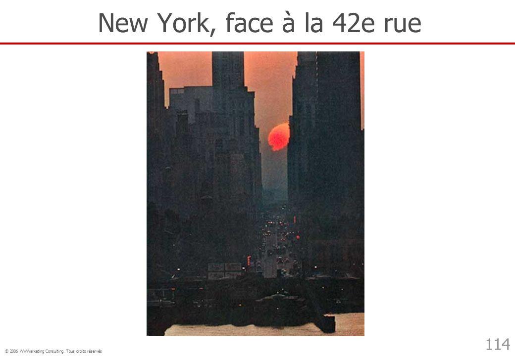 © 2006 WWWarketing Consulting. Tous droits réservés 114 New York, face à la 42e rue