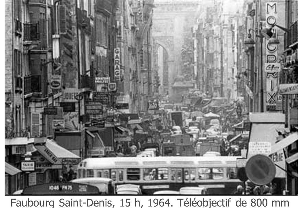Faubourg Saint-Denis, 15 h, 1964. Téléobjectif de 800 mm