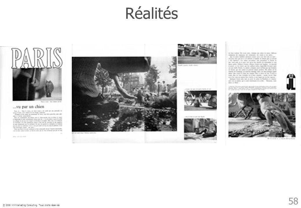 © 2006 WWWarketing Consulting. Tous droits réservés 58 Réalités