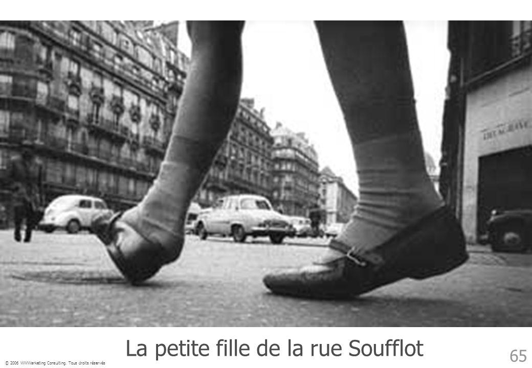 © 2006 WWWarketing Consulting. Tous droits réservés 65 La petite fille de la rue Soufflot