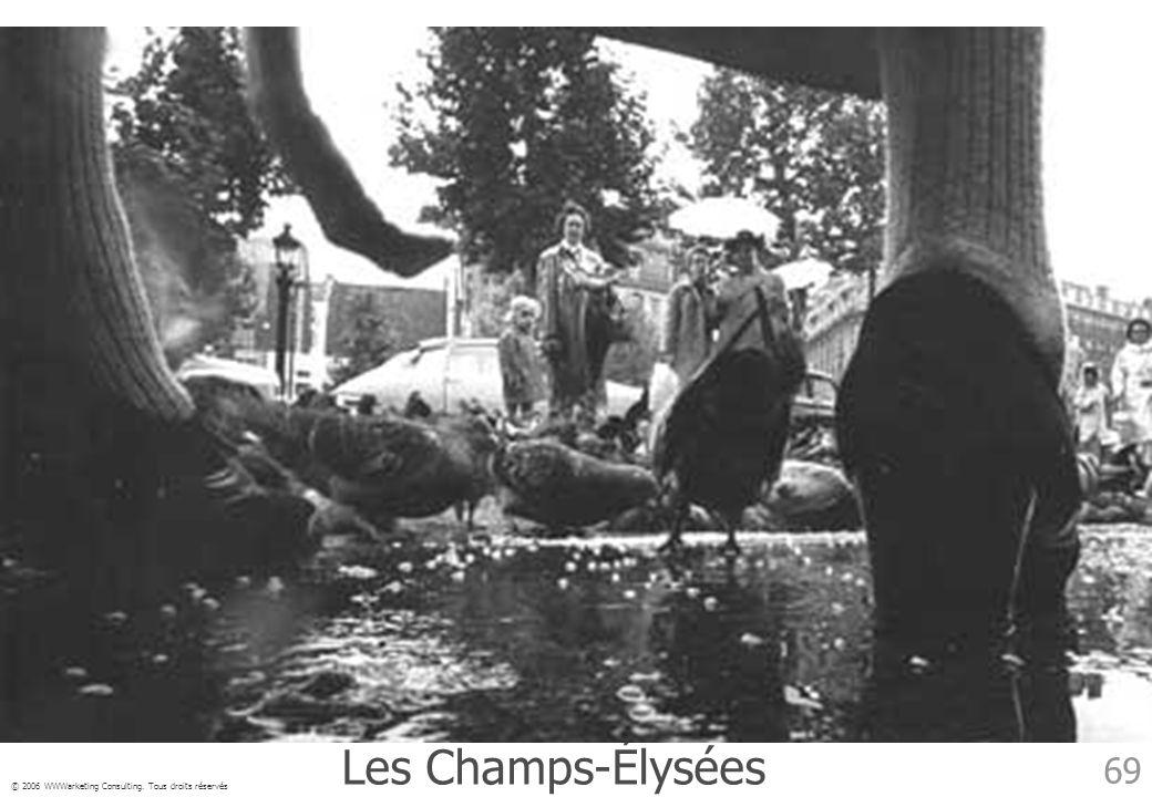 © 2006 WWWarketing Consulting. Tous droits réservés 69 Les Champs-Élysées
