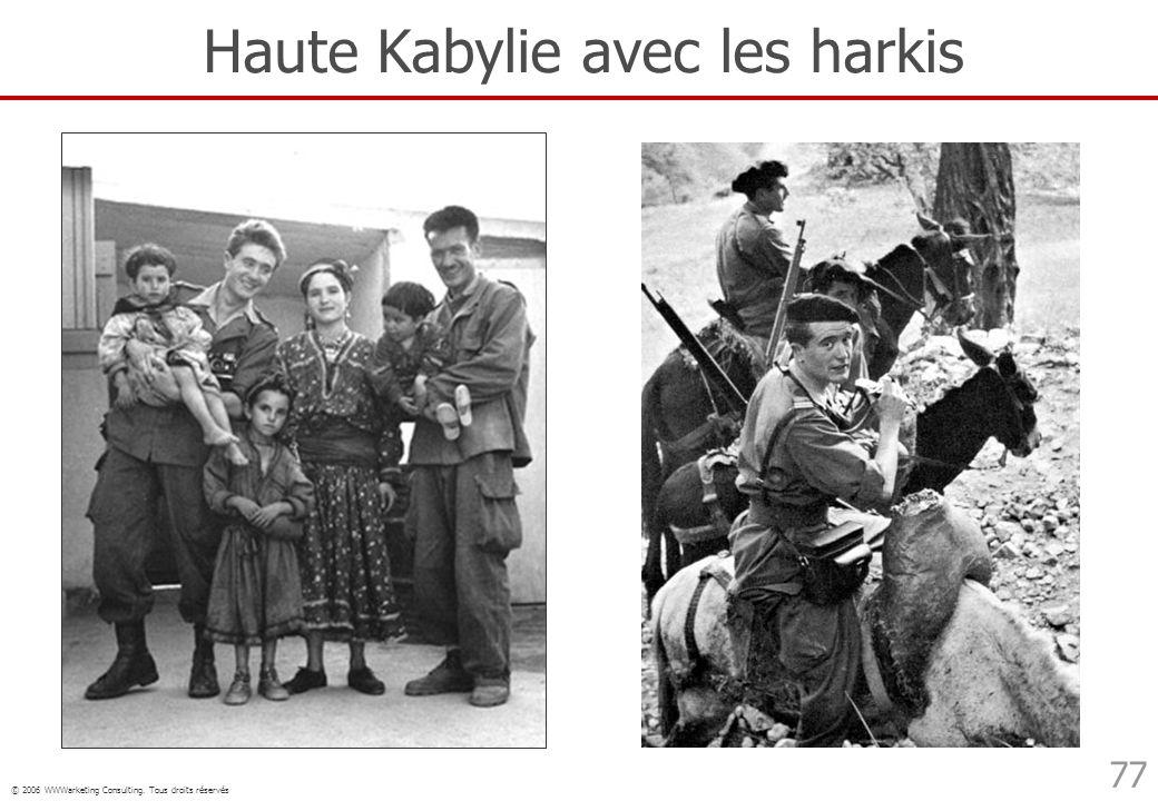 © 2006 WWWarketing Consulting. Tous droits réservés 77 Haute Kabylie avec les harkis