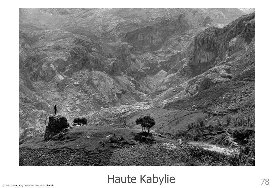 © 2006 WWWarketing Consulting. Tous droits réservés 78 Haute Kabylie