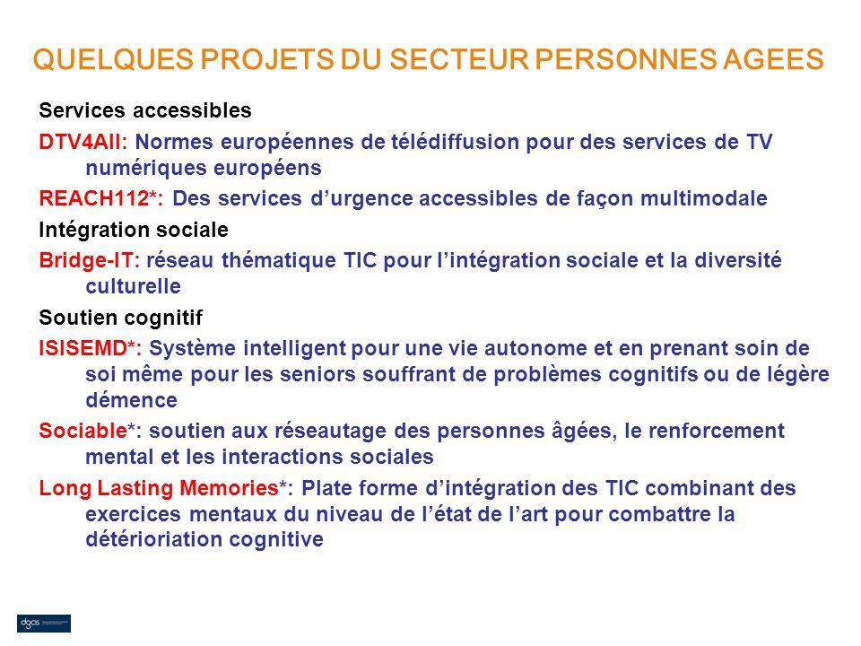 Services accessibles DTV4All: Normes européennes de télédiffusion pour des services de TV numériques européens REACH112*: Des services durgence access