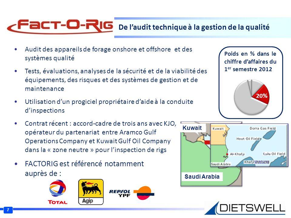 De laudit technique à la gestion de la qualité Audit des appareils de forage onshore et offshore et des systèmes qualité Tests, évaluations, analyses