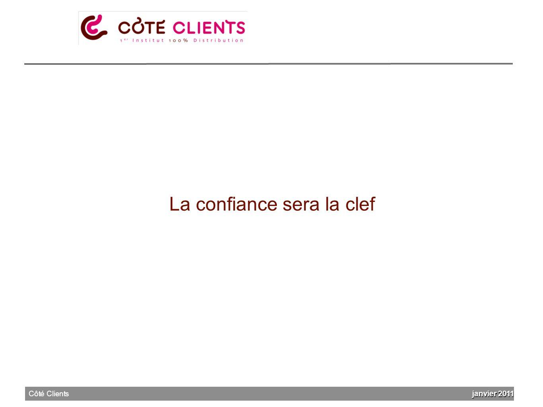 La confiance sera la clef janvier 2011 Côté Clients