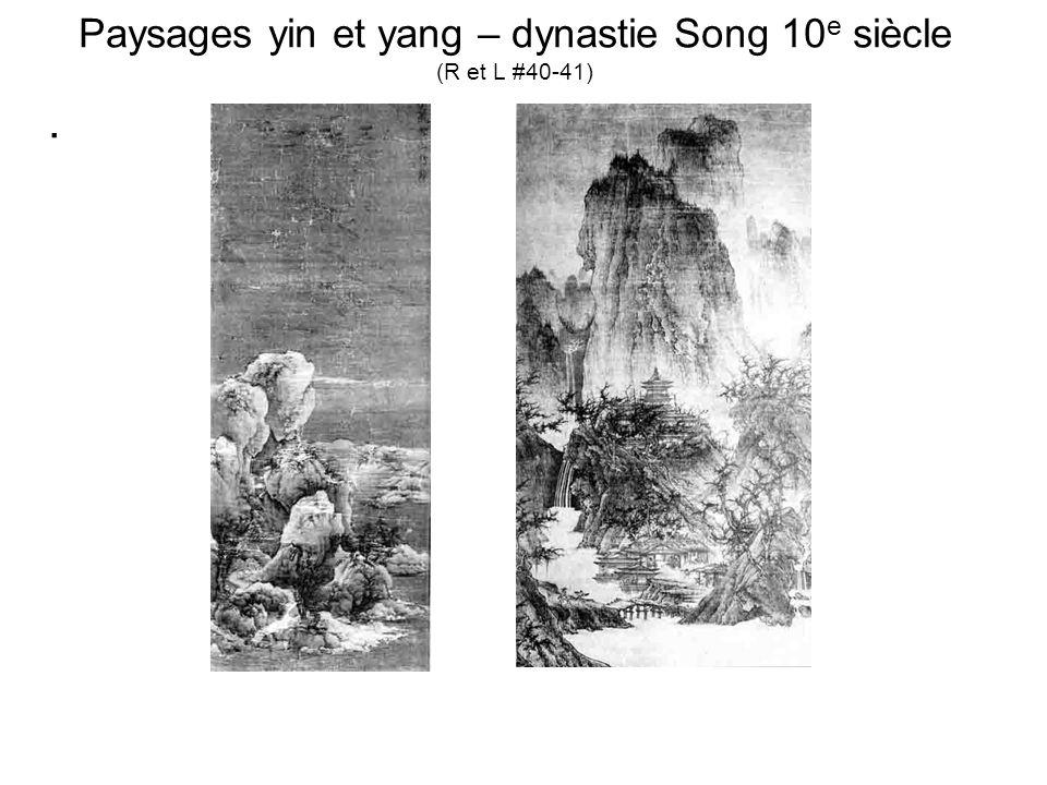 Paysages yin et yang – dynastie Song 10 e siècle (R et L #40-41).