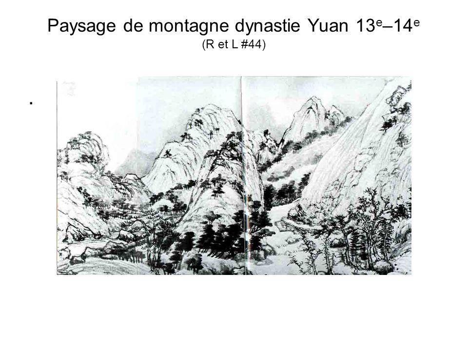 Paysage de montagne dynastie Yuan 13 e –14 e (R et L #44).