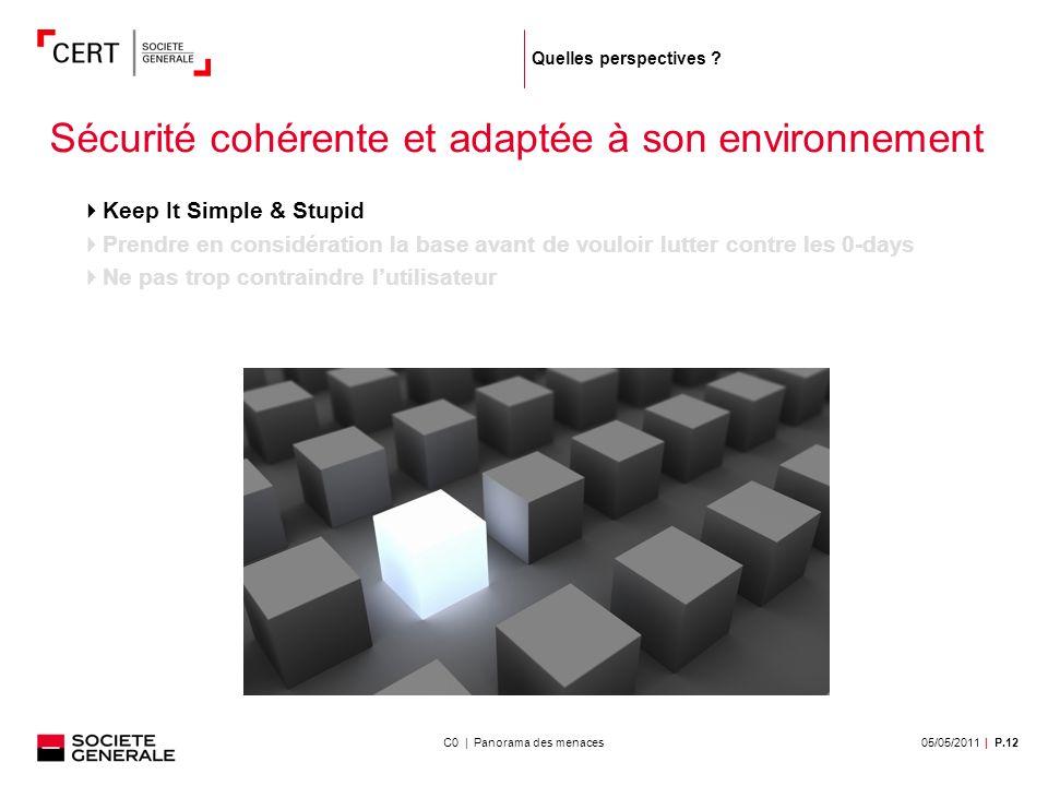 05/05/2011| P.12C0 | Panorama des menaces Quelles perspectives .