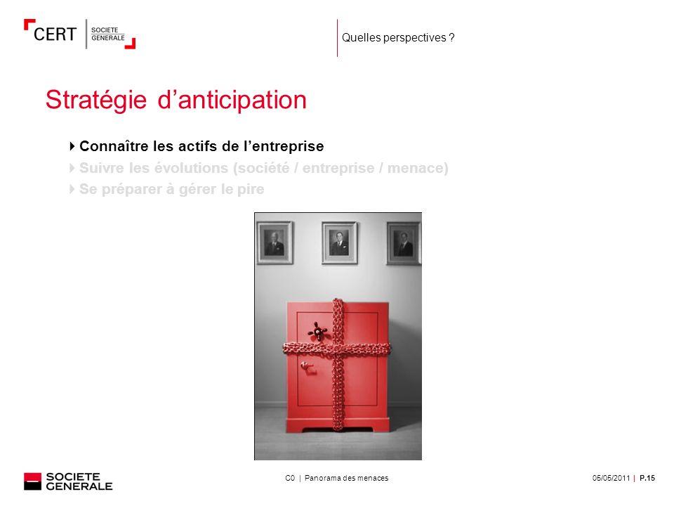 05/05/2011| P.15C0 | Panorama des menaces Quelles perspectives .