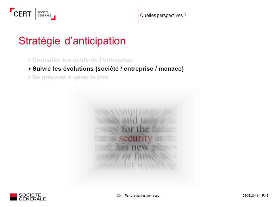 05/05/2011| P.16C0 | Panorama des menaces Quelles perspectives .