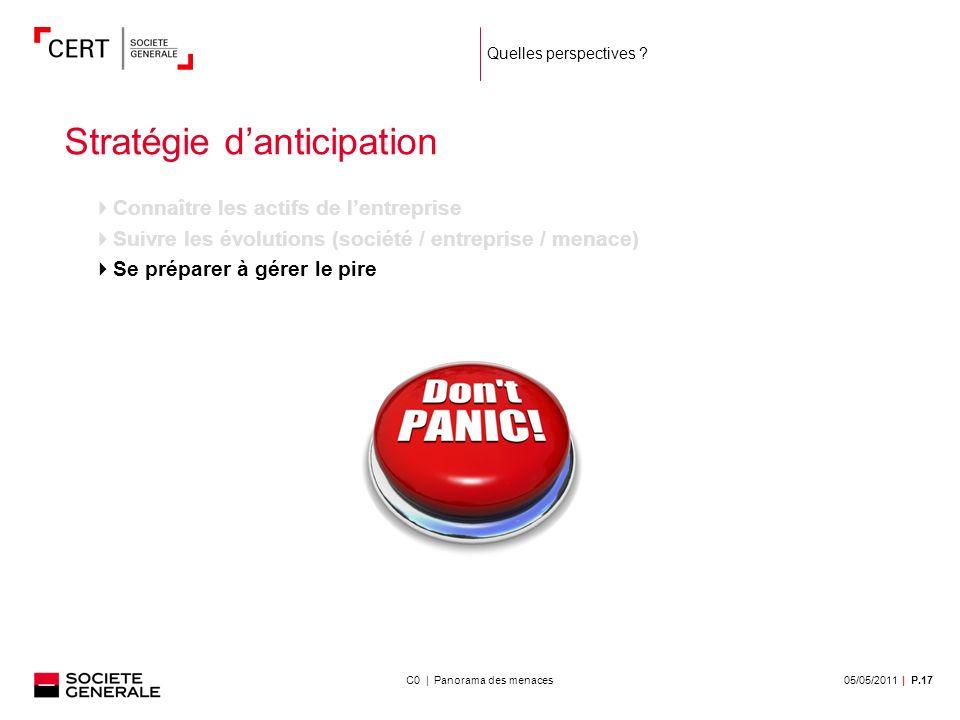 05/05/2011| P.17C0 | Panorama des menaces Quelles perspectives .