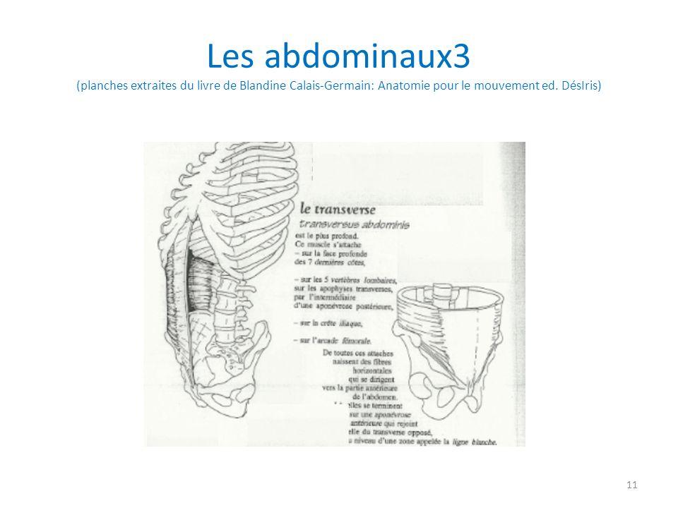 Les abdominaux3 (planches extraites du livre de Blandine Calais-Germain: Anatomie pour le mouvement ed. DésIris) 11