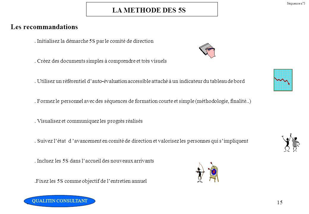Christian Fouché Consultant15 Séquence n°3 LA METHODE DES 5S Les recommandations. Initialisez la démarche 5S par le comité de direction. Créez des doc