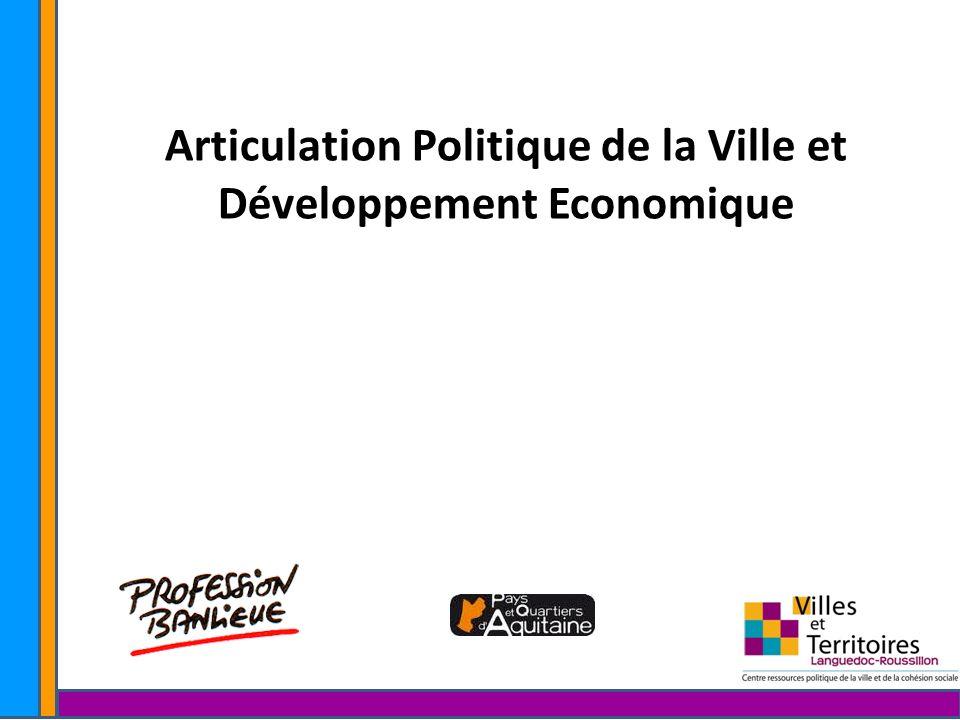 Articulation Politique de la Ville et Développement Economique